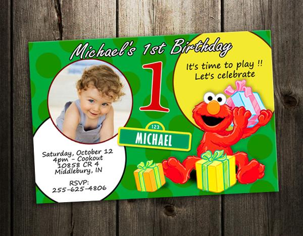 Elmo 1St Birthday Invitation orderecigsjuiceinfo