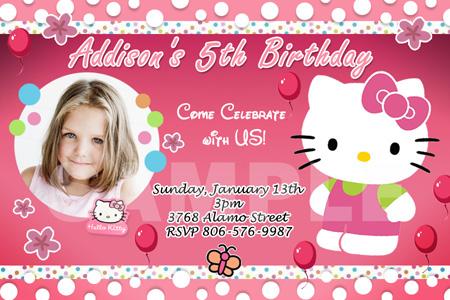 Hello kitty invitation card for birthday orderecigsjuicefo hello kitty birthday party invitation 1st customizable first printable invitations stopboris Choice Image