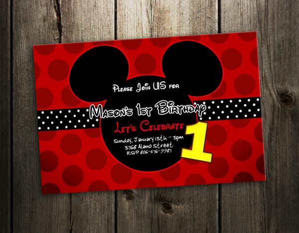 Mickey Mouse Birthday Cards – gangcraft.net