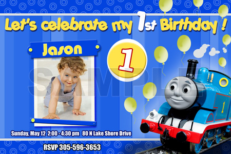 Thomas and Friends Birthday Invitations Free Printable