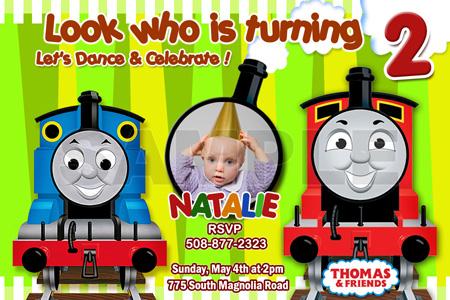THOMAS THE TANK TRAIN 1ST BIRTHDAY PARTY INVITATION engine c4 – Thomas the Tank Engine Birthday Invitations