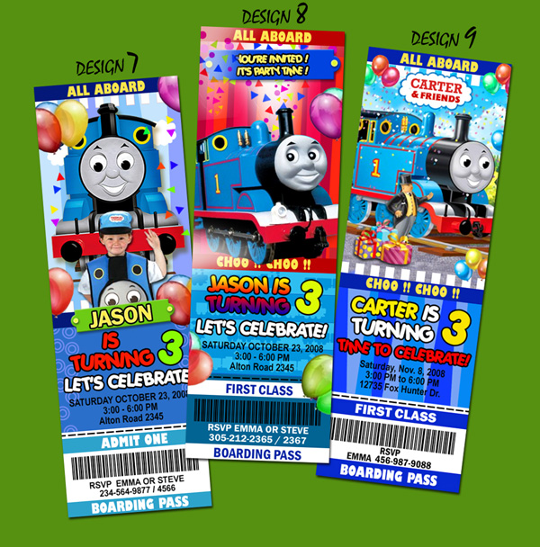 Thomas The Train Invitations Personalized with awesome invitations example