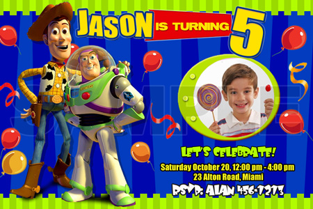 TOY STORY BIRTHDAY PARTY INVITATION PHOTO JESSIE 1ST 1 2 3 WOODY – Toy Story Party Invites
