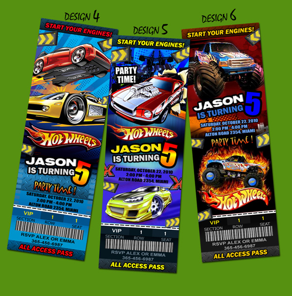 Hot Wheels Birthday Invitations Gangcraft Net