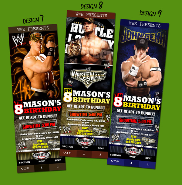 WWE Birthday Invitations and get inspiration to create nice invitation ideas